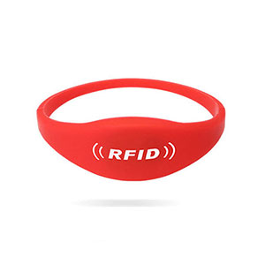Durable Closed Style F08 Chip RFID Silicone Wristbands For Sale