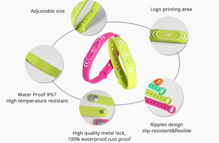 Silicone Passive RFID Wristband Access Control Details