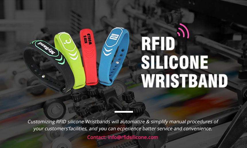 Colorful Silicone Wristband RFID Tag For GYM