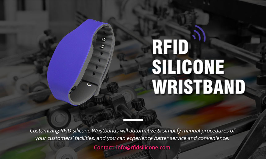 Adjustable Long Range RFID Wristband UHF Silicone Bracelet