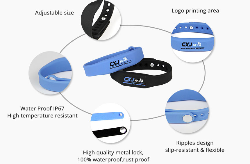 RS-AW008 Waterproof RFID Wristband Silicone With Chip Details