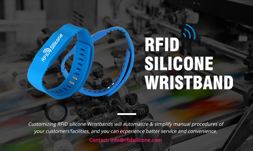 Custom 13.56MHz RFID Silicone Bracelets for GYM RS-AW021