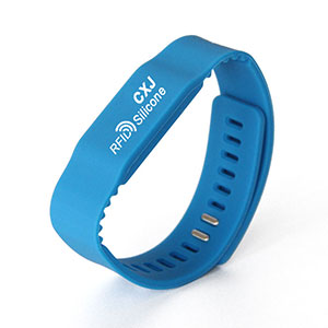 Custom GYM RFID Silicone Bracelets 13.56MHz Smart Wristbands