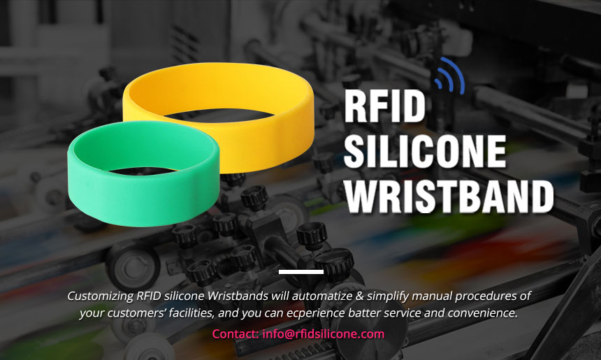 Thin & Durable Silicone RFID Bracelet For Event