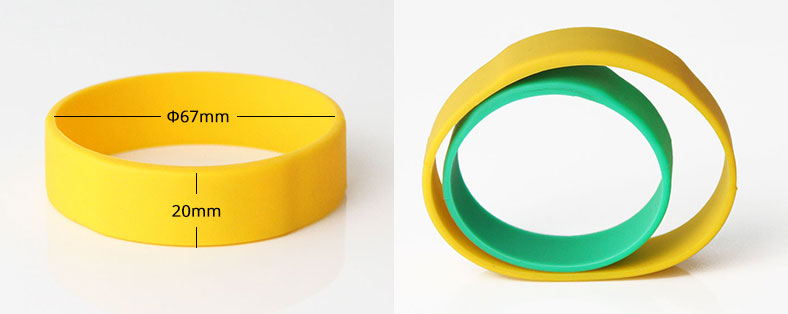 Silicone RFID Bracelet For Event RS-CW022 Size