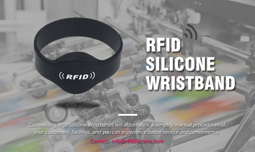 Closed type silicone RFID wristbands waterproof Bracelets