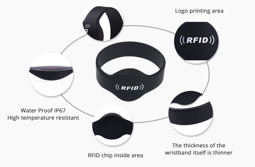 silicone RFID wristbands waterproof Bracelets RS-CW002 Details
