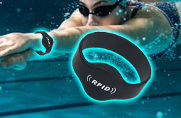 Closed silicone RFID wristbands waterproof RS-CW002