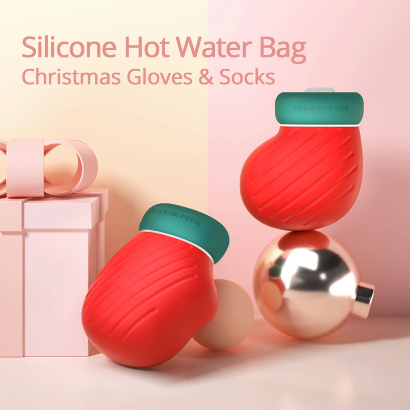Safety Silicone Hot Water Bag Microwave Heating Water Bottle‎