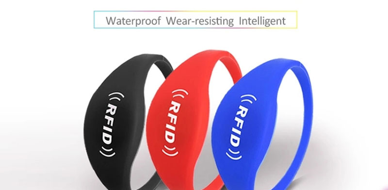 Closed Style F08 Chip RS-CW003 RFID Silicone Wristbands For Sale