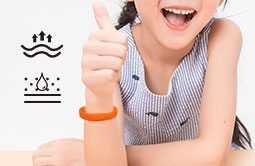 Wearable Orange Silicone Bracelets UHF Wristband Tag