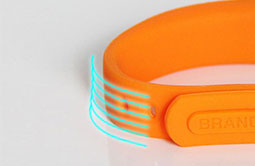 Soft Orange Silicone Bracelets UHF Wristband Tag