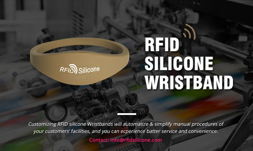 Brown RFID Silicone Wristband Bracelet