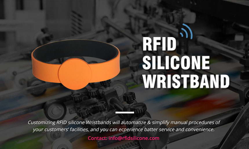 Silicone RFID Chip Bracelet RS-CW027 with Diameter 60mm