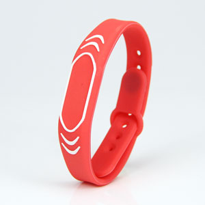 Plug-in locking RFID Sport Silicone Wristbands HF RFID Bracelet