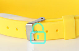 RS-AW040 RFID Wristband Waterproof Silicone Bracelets  with metal clasp