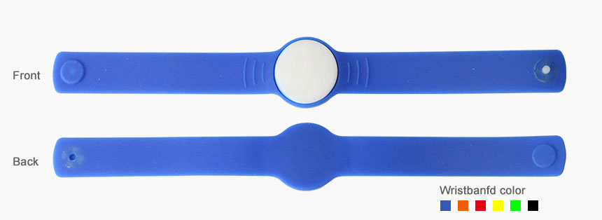 RS-AW056 Silicone Buckle RFID Wristbands For Hotels Size