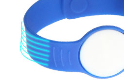Soft RS-AW056 Silicone Buckle RFID Wristbands For Hotels