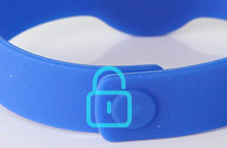 RS-AW056 Silicone Buckle lock RFID Wristbands For Hotels