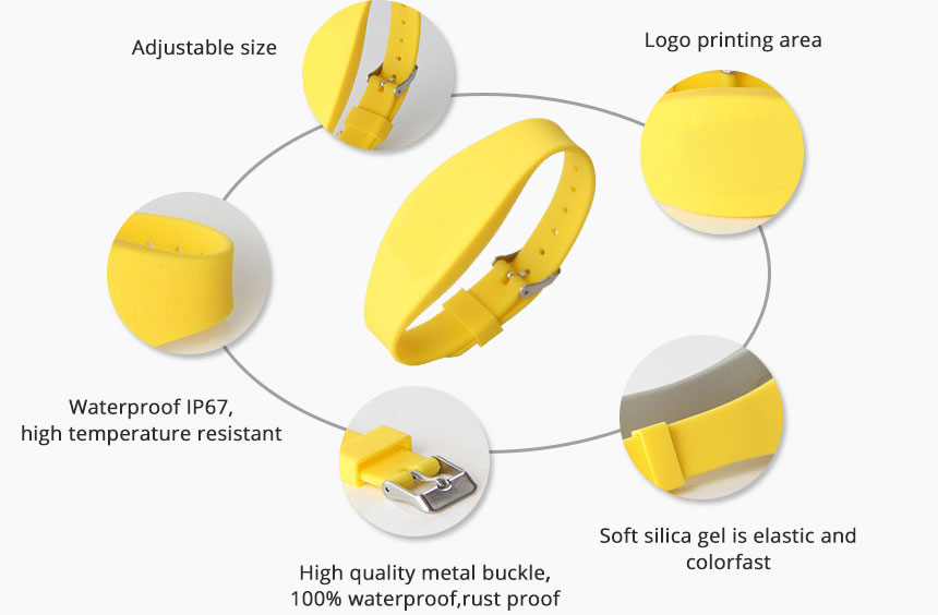 RFID Wristband Waterproof Silicone Bracelets AW040 Details