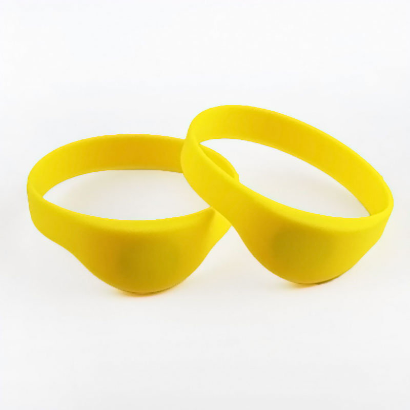 Flexible 13.56MHz RFID Silicone Tag MIFARE Bracelet For Events
