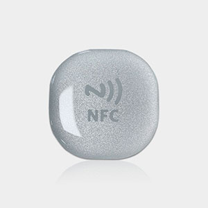 30x30mm Anti-metal 3M NFC Tags in rigid PVC with Tough | RS-NET002